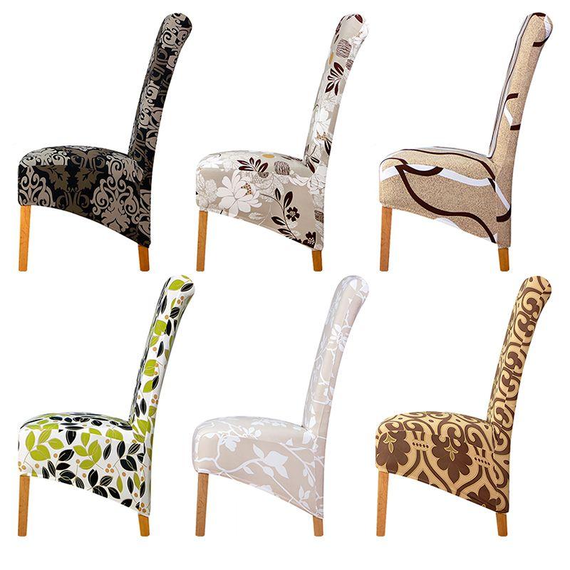 Large Size-Stuhl-Abdeckung König lange zurück hohe Rücken Spandex Hussen Restaurant Hotel-Partei-Bankett Stuhl Slipcovers Y200103