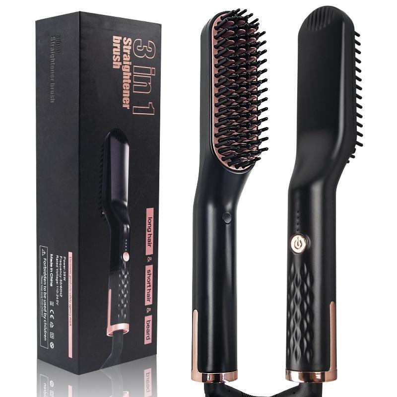 Men Beard Straightener Comb Hair Straightener Brush Hot Comb Straighteners Flat Irons Beard Straightener Hair Straightening Brush