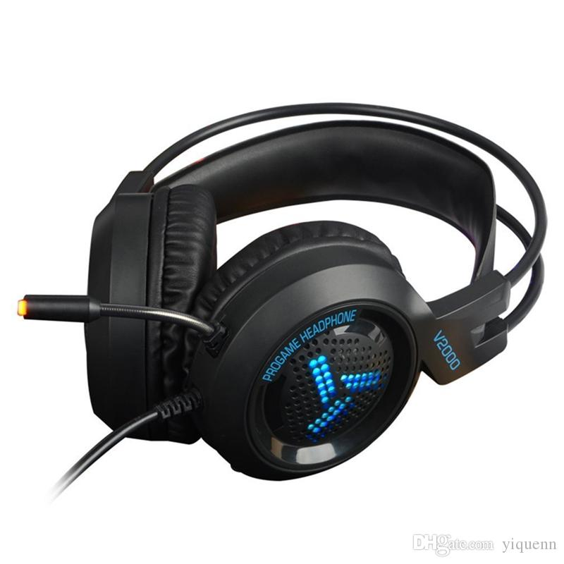 Taiwan Shield V2000 computer game headset 7.1-channel headset headset Jedi survival chicken esports with wheat network noise reduction