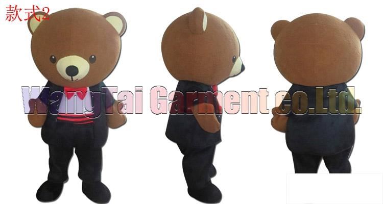 boda traje de la mascota del oso envío libre del tamaño adulto, juego de la mascota oso de peluche muñeca de juguete carnaval película de anime mascota de dibujos animados clásicos