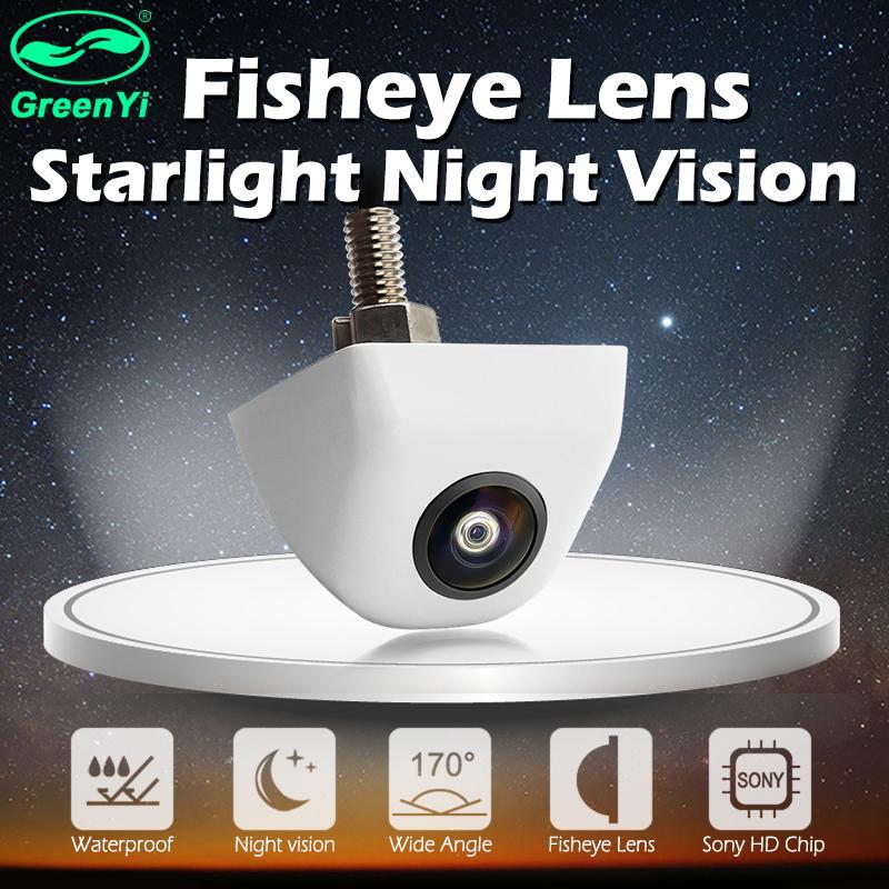 GreenYi 170 градусов Белый Starlight ночного видения Рыбий глаз автомобиля сзади / Вид спереди камеры низкого уровня освещенности 15m камеры автомобиля