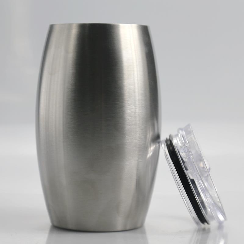 2020 nuevo estilo 25 oz hueveras sin pie de acero inoxidable con tapa Vasos de agua taza taza de la botella de vino en la acción