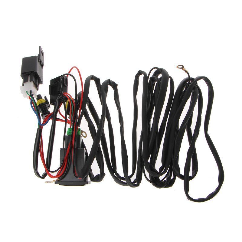 유니버설 12V 40A 릴레이 배선 하네스에 / 자동차 LED 안개등 11월-29B의 경우 스위치 키트 끄기