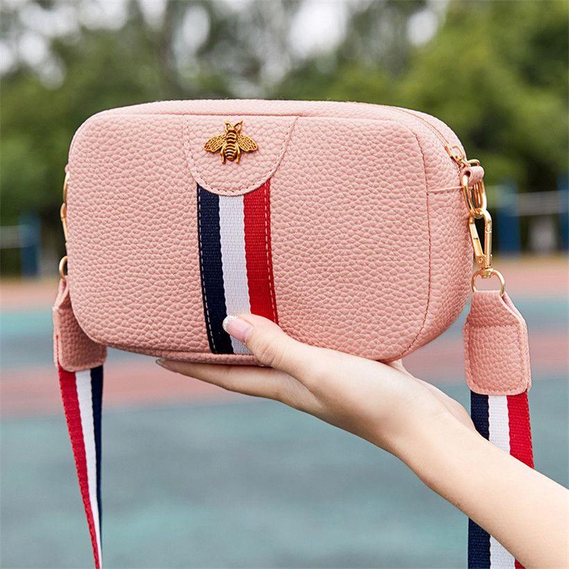 Дизайнер Luxury Shoulder Bag Женский Повседневный Прямоугольник Портативный одним плечом сумка Кожа PU Телефон Coin сумка сумка Trend Crossbody