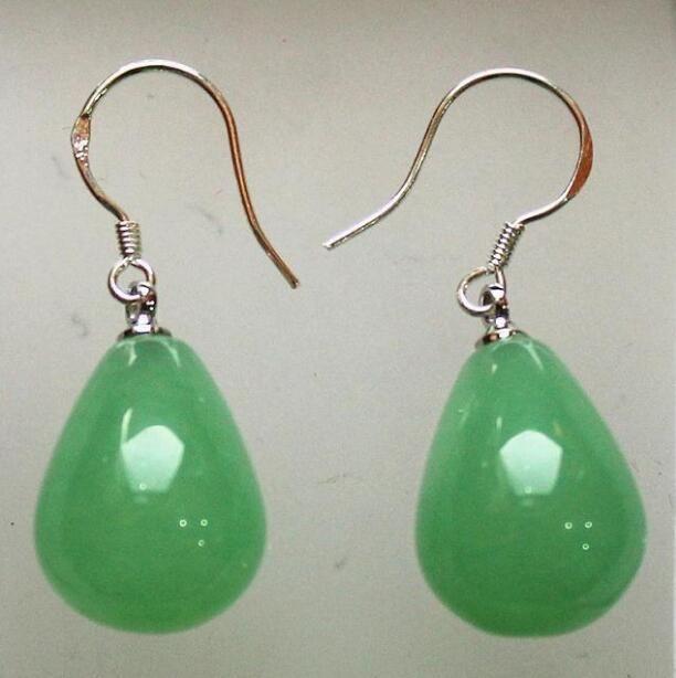 Orecchino verde chiaro chiaro all'ingrosso della vite prigioniera dell'orecchino 12 * 16mm di Jewelryr Jade Trasporto libero