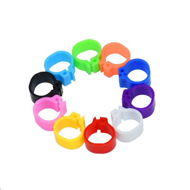 100 pezzi colori Dieci Piccioni Anelli 8mm Baionetta Identificazione anello di apertura accessori per la casa del piccione Anello di colore piccione piede ad anello Pigeon