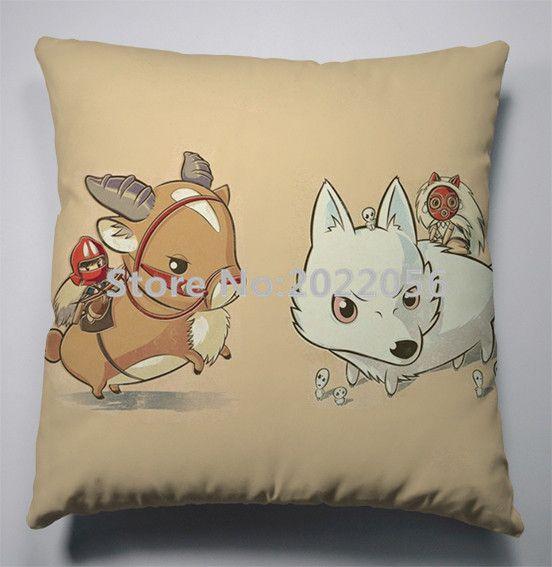 Anime Manga Princesa Mononoke Pillow 40x40cm fronha Seat Cover cama Almofada 001