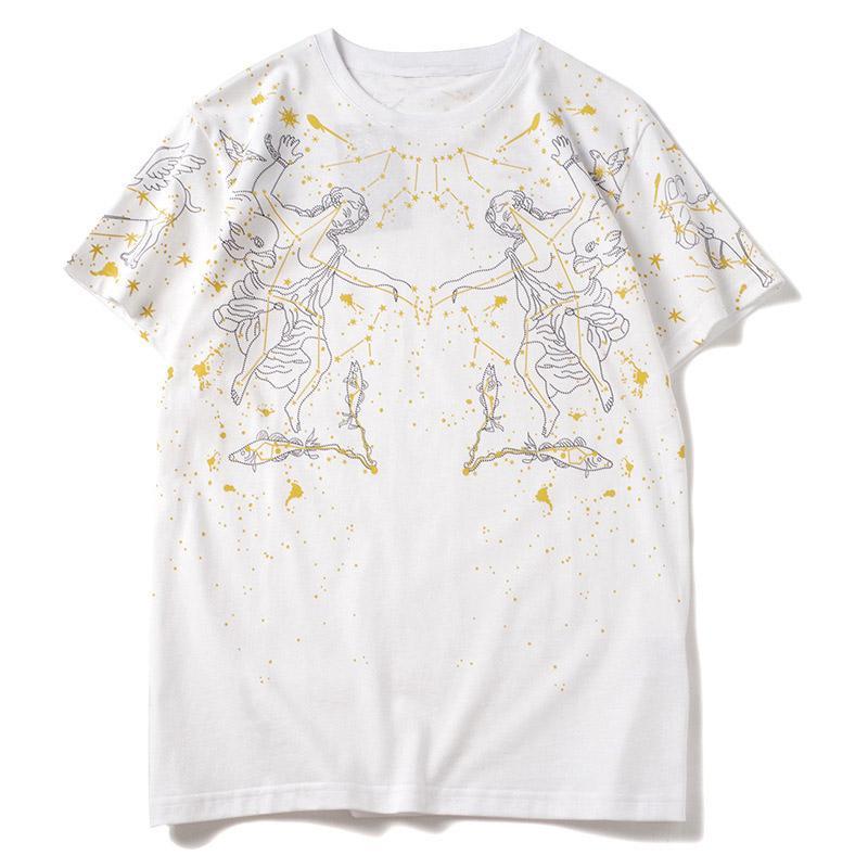19SS Hommes T-shirt Coton Sport Casual manches courtes T-shirts de haute qualité pour hommes 3 couleurs Taille S-2XL