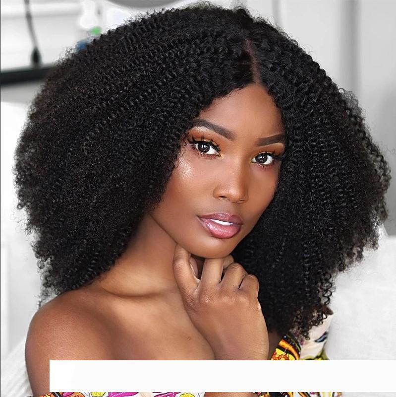 Монгольский Kinky вьющиеся человеческих волос парики pelucas с волосами младенца 13X4 до нарветесь 150 плотность glueless бразильского Виргинские кружева Ф