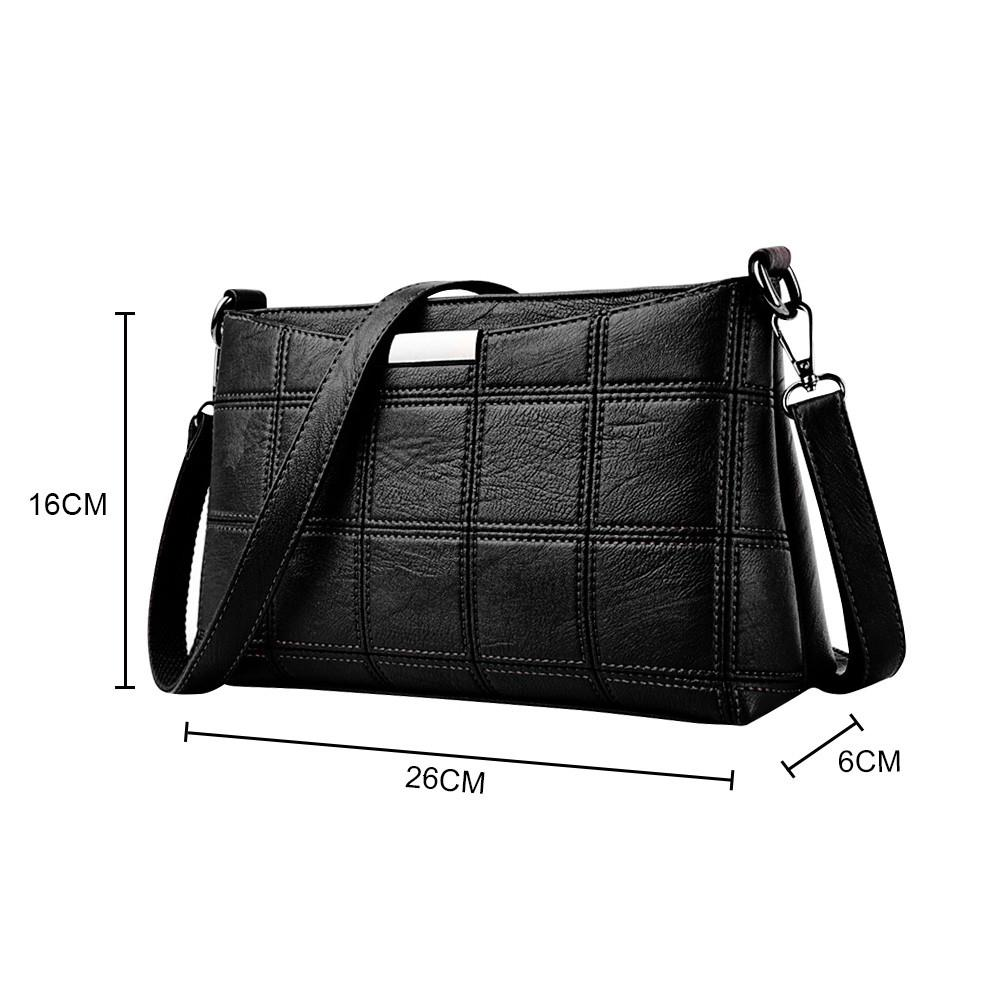 Women Handbag Leather Plaid Messenger bag Shoulder Small square package BK 8.12 SH190924