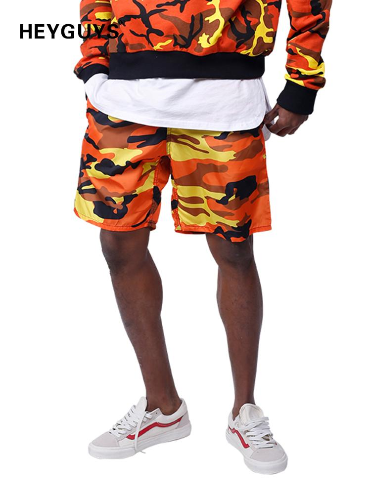 Heyguys 2018 Hot Sale Pure Men's Summer Fashion Camouflage Shorts Casual Waist Trousers Sweat Shorts Pure Hip Hop Street Wear Y19071601
