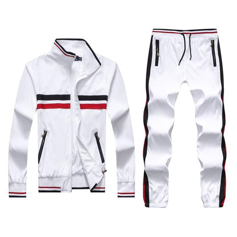 Hot Men's Tracksuits Famous Mens Design Tracksuits Autumn Men Sports Jacket Zipper Cardigan Sweater And Pants Set