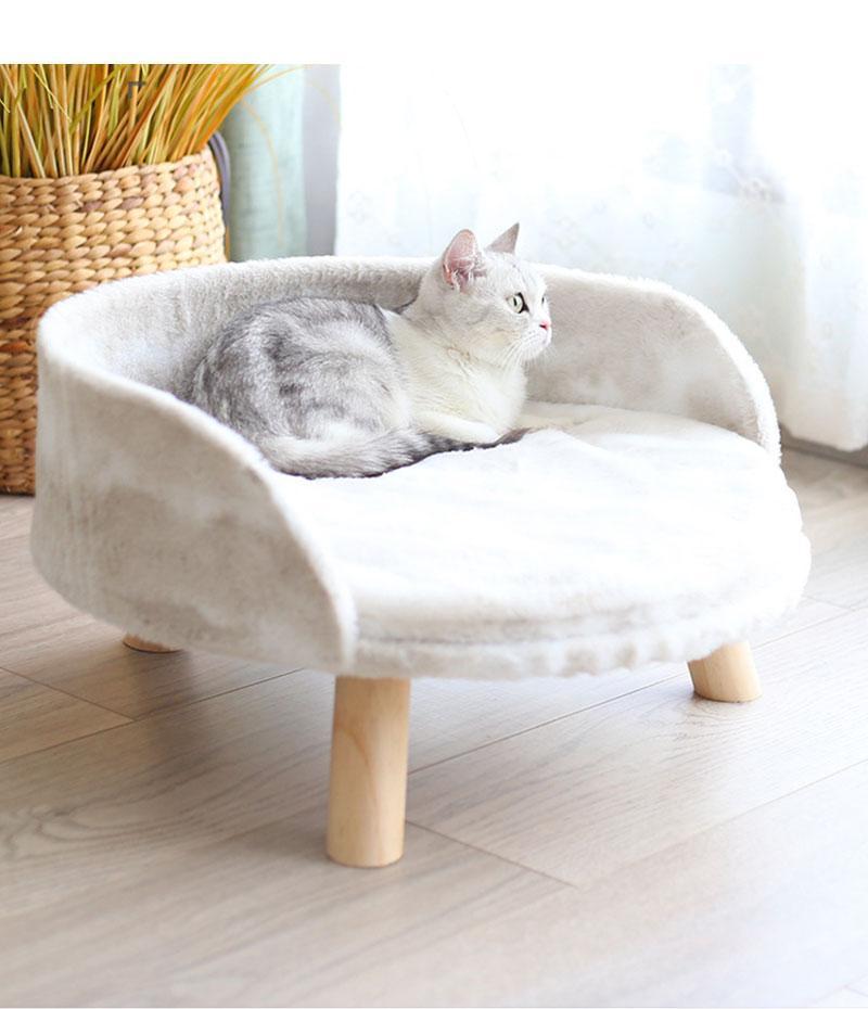 دافئ المرجان الصوف في فصل الشتاء القط صوفا فراش إزالة جرو أريكة تتحول إلى القط عش هريرة مفرش أثاث اكسسوارات الحيوانات الأليفة