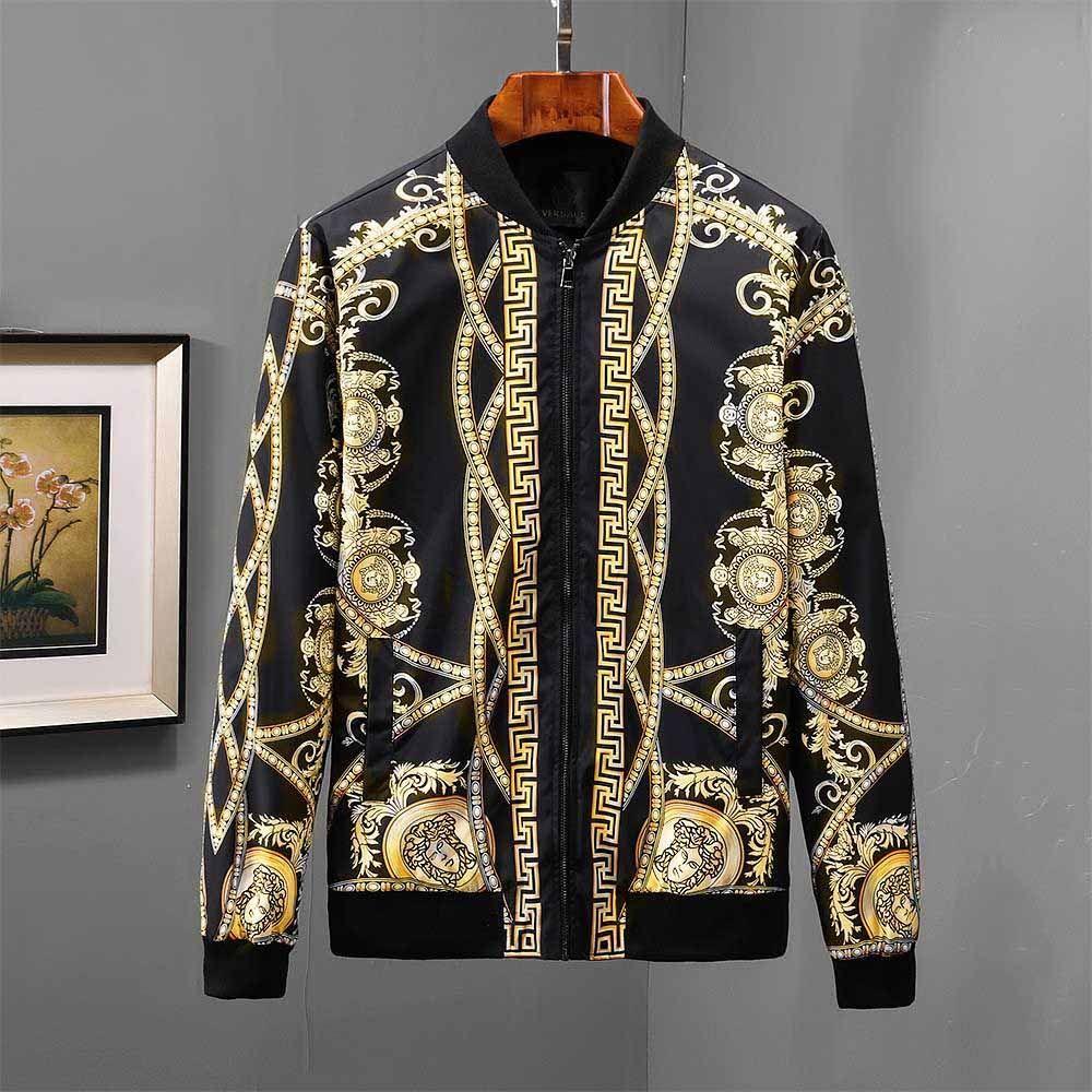 2019 erkek giyim tasarımcısı ceket moda erkek giyim tasarımcısı rüzgarlıkJacket Kabanlar casual fermuar ceket medusa Ceket rüzgarlık
