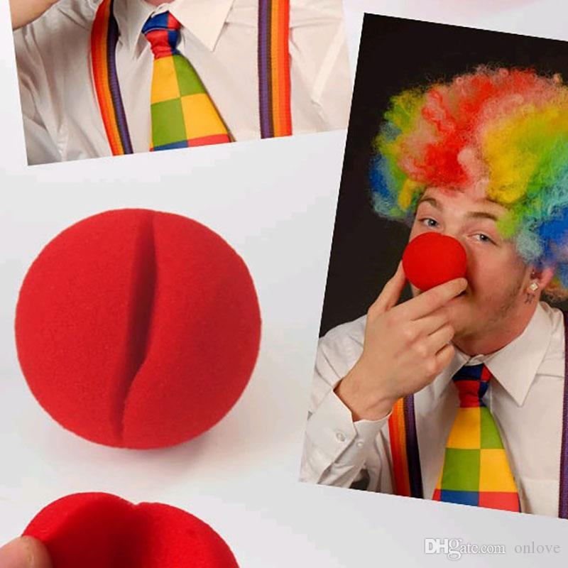 Hot Party Fun Red Nose Foam Circus Clown Nose Comic Party Supplies Halloween Accessories Costume Magic Dress Party Supplies XD20063