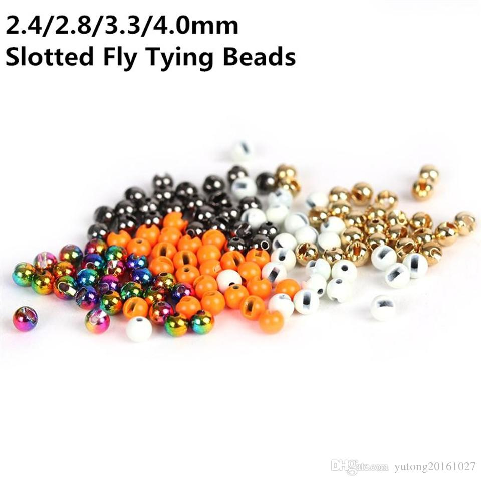 25 or fendue Tungstène fly tying Beads Taille 3.5 mm