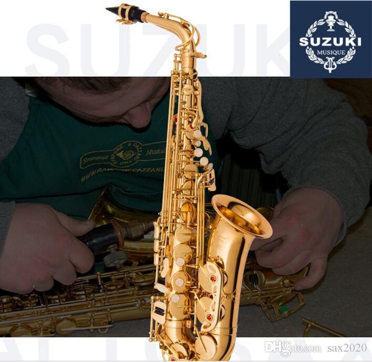 Альт саксофон япония SUZUKI инструмент высокого качества E Flat music профессиональный альт саксофон бесплатная доставка