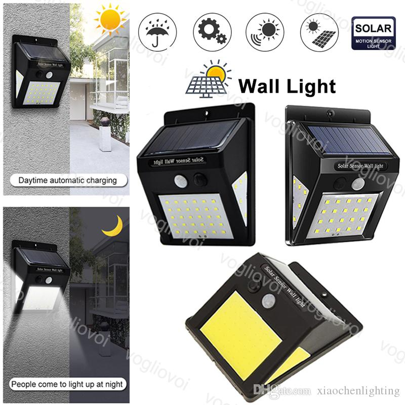 Solar Security Lights Motion Sensor COB SMD 40LEDs 60LEDs Waterproof Path Emergency Security Outdoor 3 Sided Bright For Garden Wall EUB