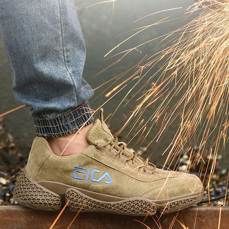 Yuxiang Çalışma Metal Ayak Delinme-Proof Emniyet Boots Nefes Sneakers Yok edilemez Ayakkabıları ile Hafif Emniyet Shoes