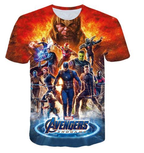 Herren Avengers Endgame 3D T Shirt Sommer Kurzarm T Shirts Über Größe