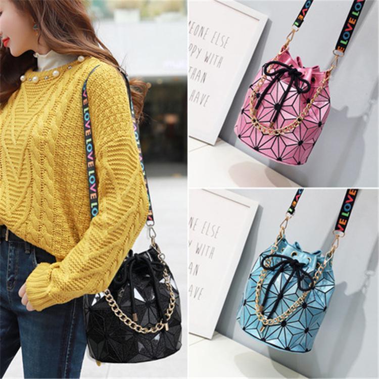 Известный бренд лазерный пакет к клетку плечо геометрические оптом цепь Crossbody женские сумки женские велосипедные багажники алмазные сумки сумки HN HVVA