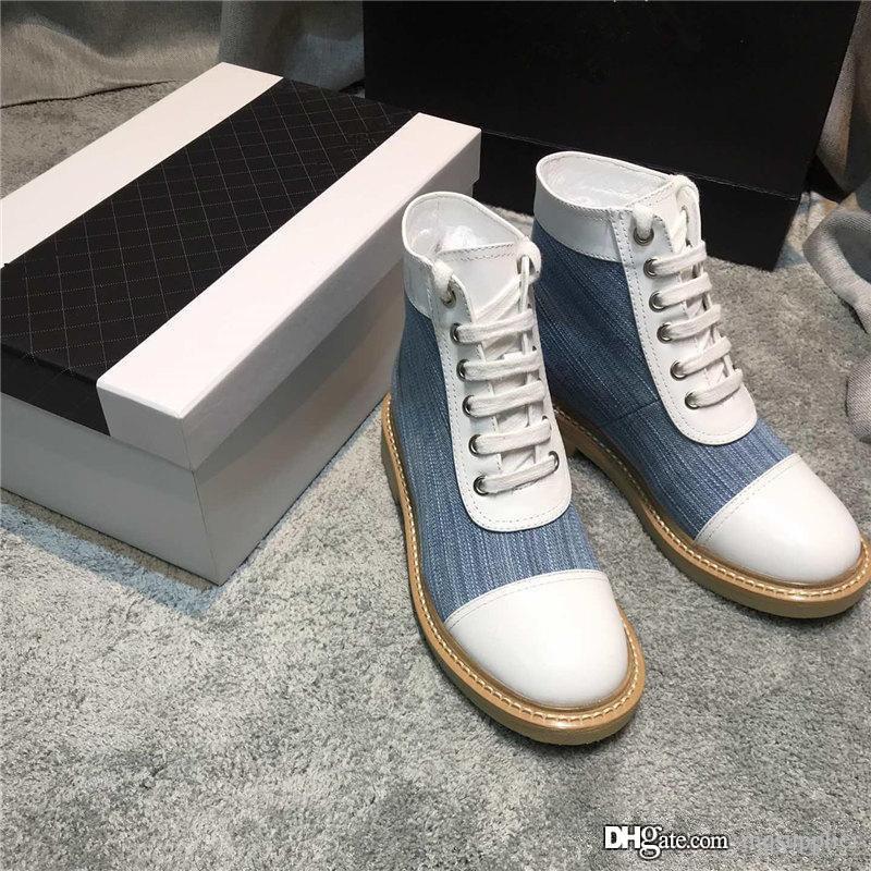 Son Kadınlar tasarımcı çizmeler Martin Desert Boot Aşk madalya% 100 gerçek deri kaba boyutu US4.5-8.5 Denim Kış ayakkabı ok flamingos