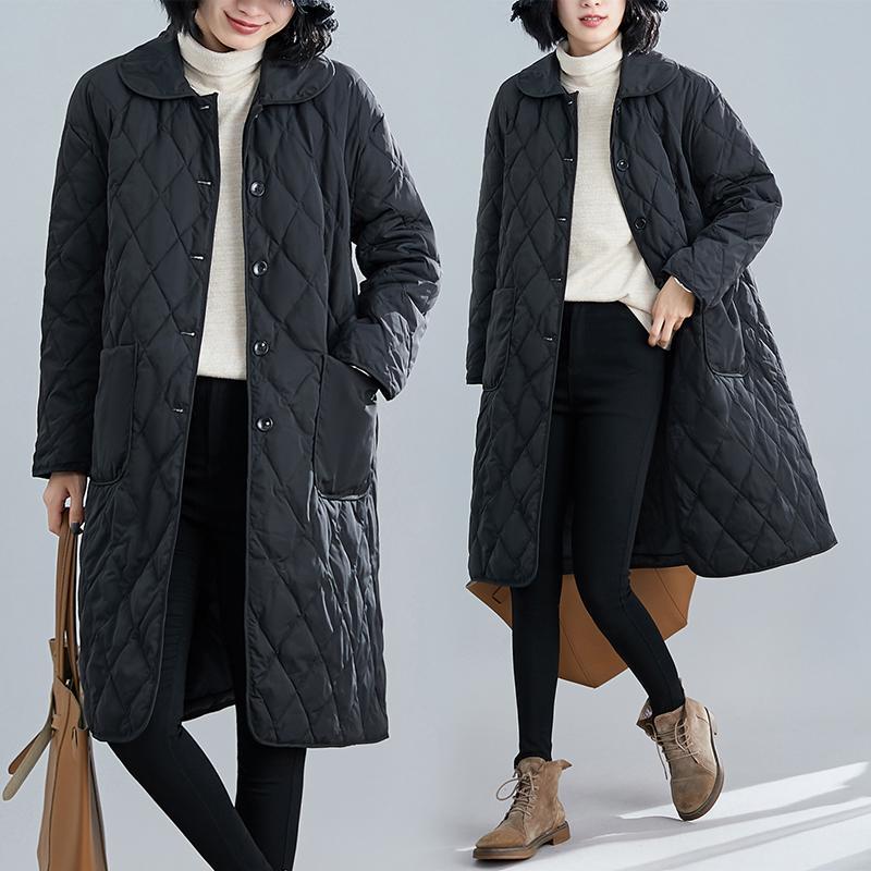 Hiver matelassée Veste longue manteau femmes Taille Plus Taille Plus coton
