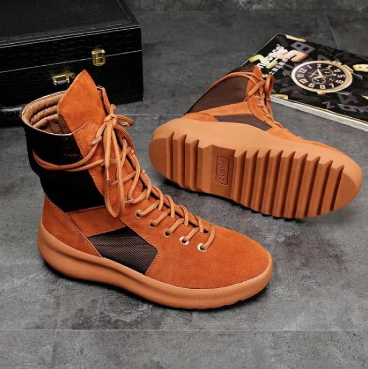 botas New boa qualidade marca KANYE altas Melhor de Deus sneakers militares botas militares Hight homens e mulheres sapatos da moda Martin botas c15