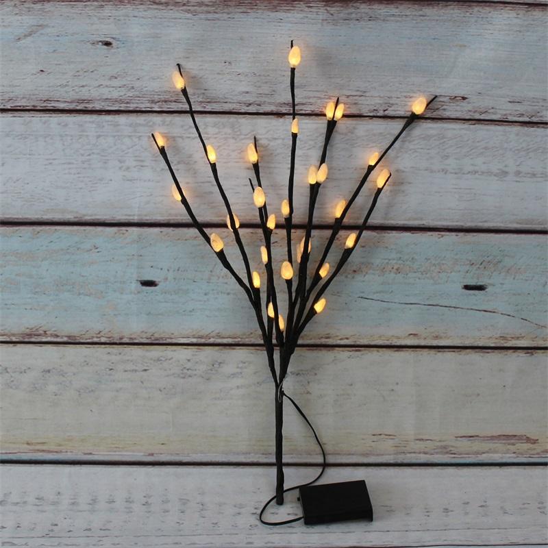 Artificial Borrazeira Spary 30L pilhas White Light Filial Led Decoração Led Light para Quarto Home Living Garden