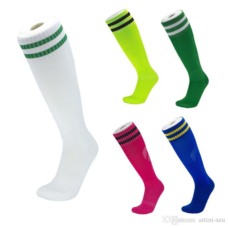 High Knee Football Socks For Adults Kids Towel Bottom Knee High Long Stocking High-end Soccer Socks Outdoor Running Riding Climbing M116Y