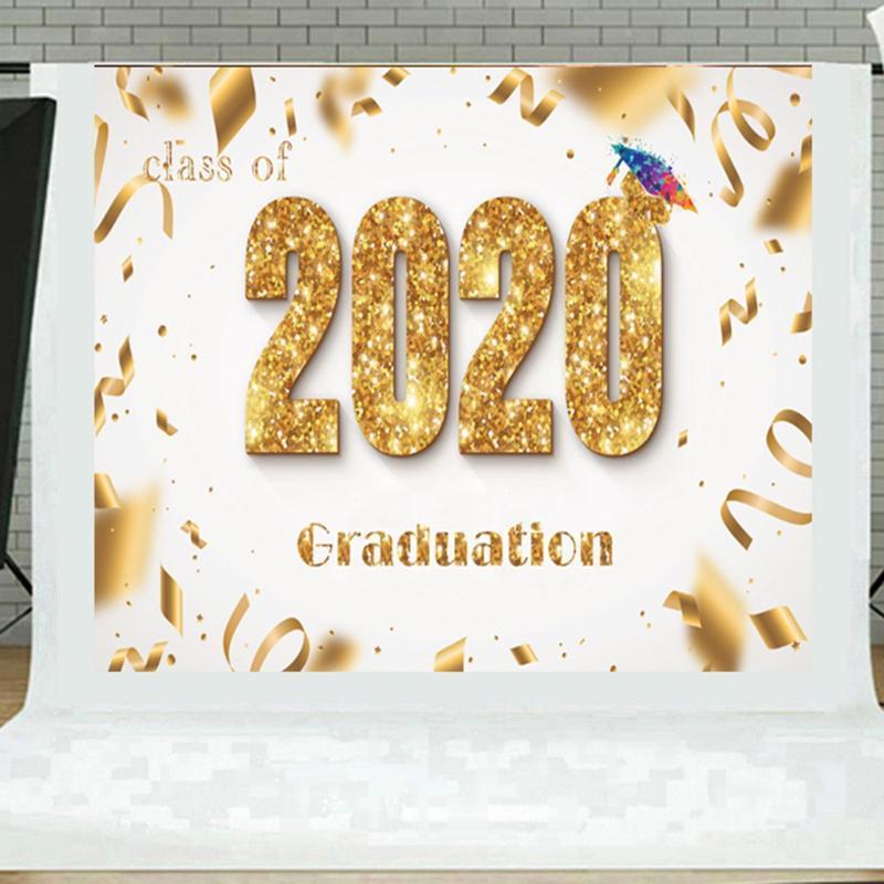 Grand Tissu Graduation Banner durable selfie 2020 Contexte Bunting Graduation bannière du Parti Supplies Décorations
