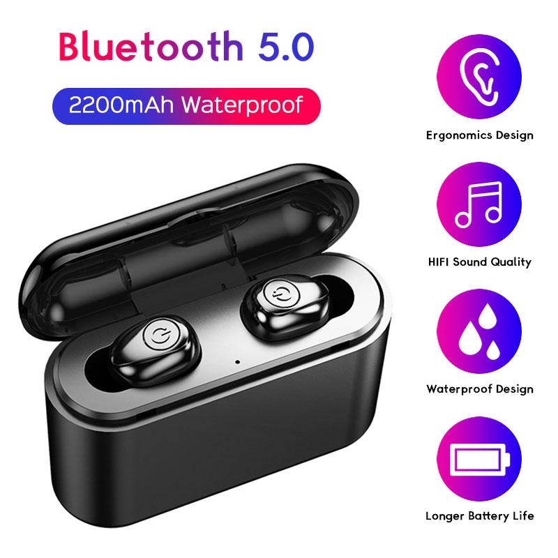 TWS X8S À Prova D 'Água Bluetooth 5.0 Fones de Ouvido Sem Fio Mini Fones de Ouvido Estéreo Esporte Gaming Headset Headphones