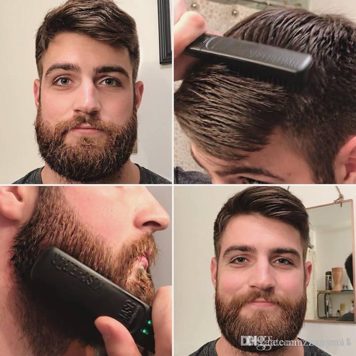 Mini plancha de pelo de hierro férula eléctrica de cerámica del pelo alisado recta placa enderezadora hierros planos de las placas de cerámica