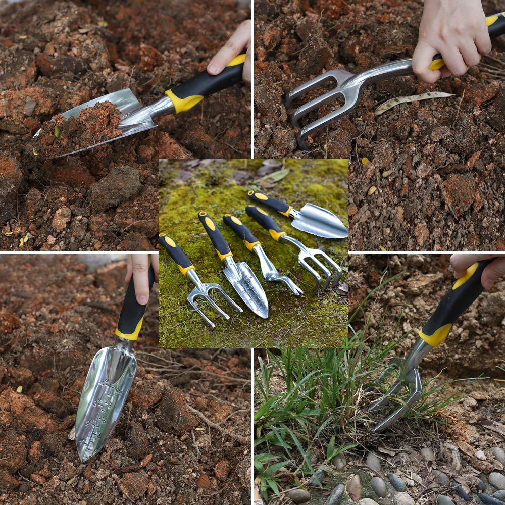 Garden Tool Hand Trowel,Rake,Cultivator,Weeder Tools With Ergonomic Handle,Garden Lawn Farmland Transplant Gardening Bonsai Tool