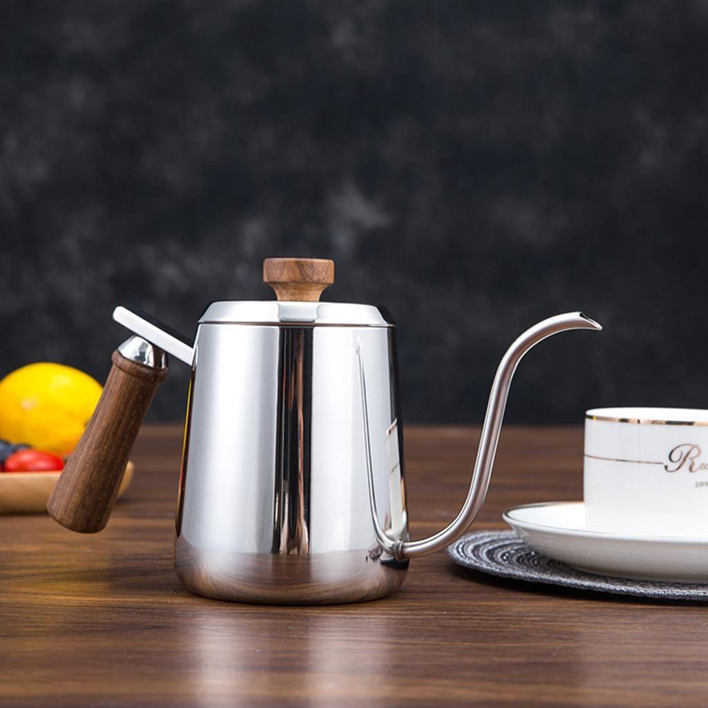 350ML de 600 ml de cuello de cisne de café Ollas de alta calidad en acero inoxidable Verter sobre la caldera de café Mano goteo Tea Pot Oficina Coffeeware