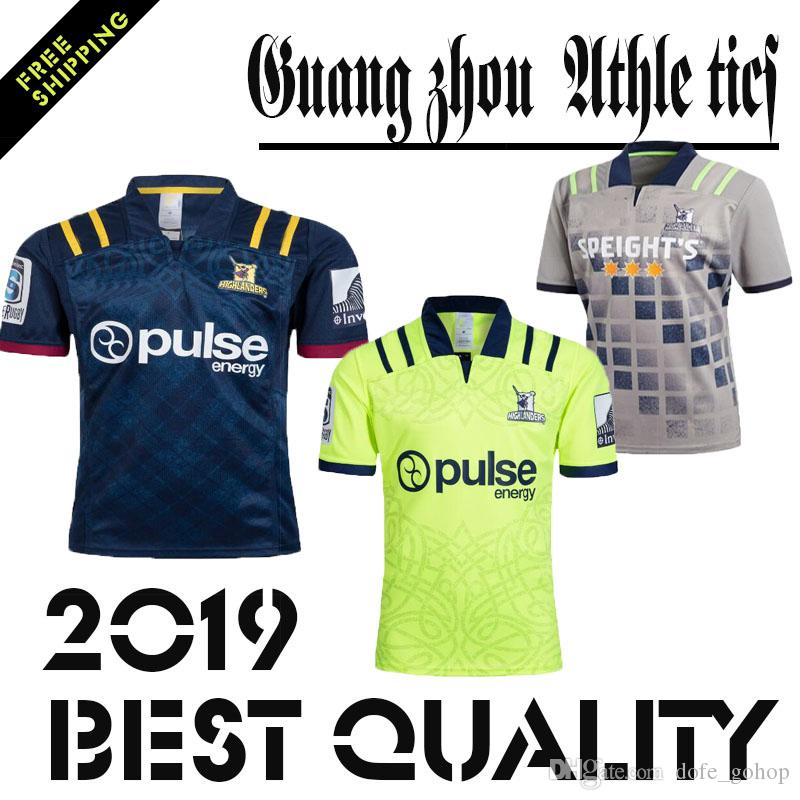 최고 품질의 뉴질랜드 Highlander Rugby jerseys 2018 2019 new OTAGO Highland Rugby Shirts 17 18 19 Mens 럭비 축구 저지 사이즈 S-3XL