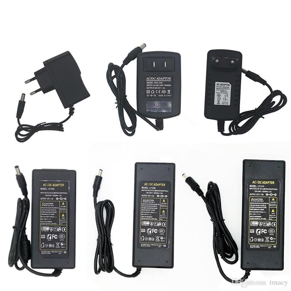 LED adaptör Sviçlemeli güç kaynağı 110-240V AC 12V 2A 3A 4A şekil 5A, 6A 7A 8A 10A 12.5A LED ışık şeridi 5050 3528 transformatör adaptör aydınlatma