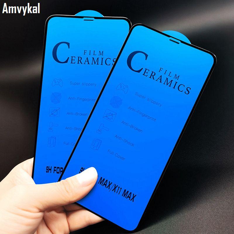 9H Soft-Keramik-Film-Schirm-Schutz-volle Abdeckung für iPhone 11 pro max XS XR X 8 7 6 Plus Nicht gehärtetes Glas