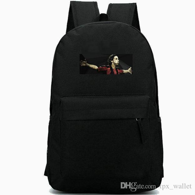 Zlatan Ibrahimovic backpack Forward football daypack soccer print schoolbag دائم حقيبة الظهر عارضة حقيبة مدرسية في الهواء الطلق حزمة اليوم