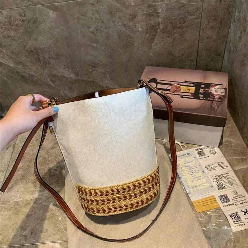 Tasarımcı-çanta Loevy çanta çanta kadın kova lüks çanta çanta moda kılıf omuz çapraz vücut çanta çanta