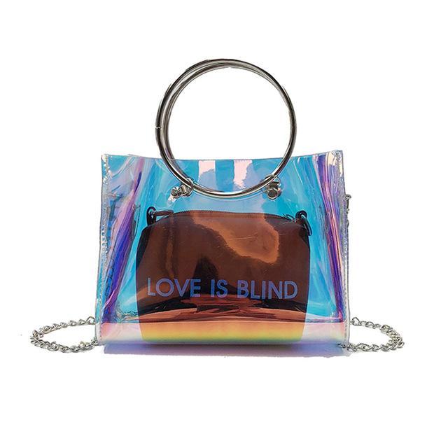 Bags for Women Women's Shoulder Composite Crossbody Bag Lady Transparent PVC Fashion for Coin Money