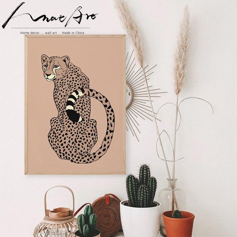 Tier Poster und Drucke Leinwand böhmisch Wandkunst moderne nordische Dekoration zu Hause Raumdekoration Malerei