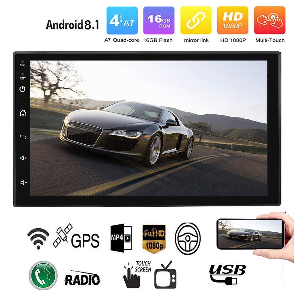 Android 8.1 Araba Radyo Stereo GPS Navigasyon Bluetooth Wifi Evrensel 7 '' 2Din Araba Radyo Stereo Dört Çekirdekli Multimedya Player Ses