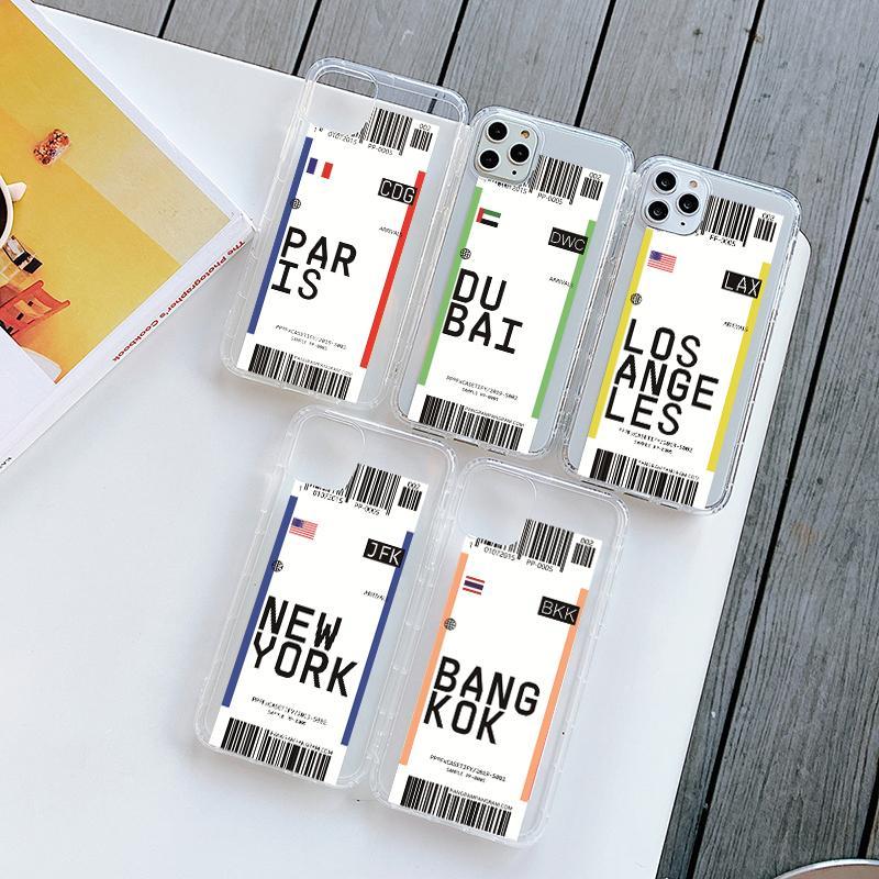 Aire caliente billetes de Ciudad Código de etiqueta barra de teléfono del caso para Samsung S20 S10 Plus 5G S9 S8 Nota 10 9 ins carta de cubierta para silicona suave