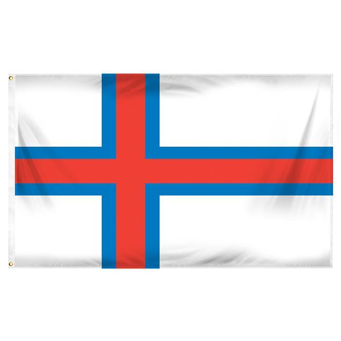 Isole Faroe Bandiera di alta qualità digitale stampata poliestere Tutti i paesi Hanging Pubblicità esterna Uso dell'interno, trasporto di goccia
