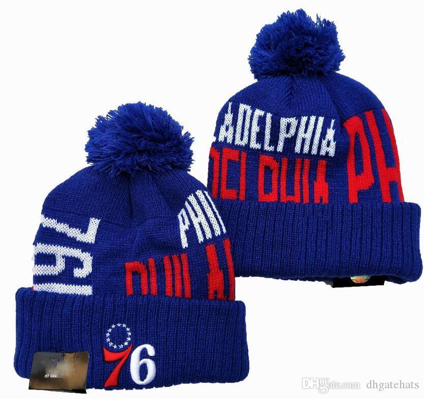 Nuovo script Cappello di lana con risvolto Pom Hat Inghilterra Lana Bonnet caldo poco costoso di pallacanestro Berretti Hip Hop ha lavorato a maglia Calotta per Uomo Donna 17