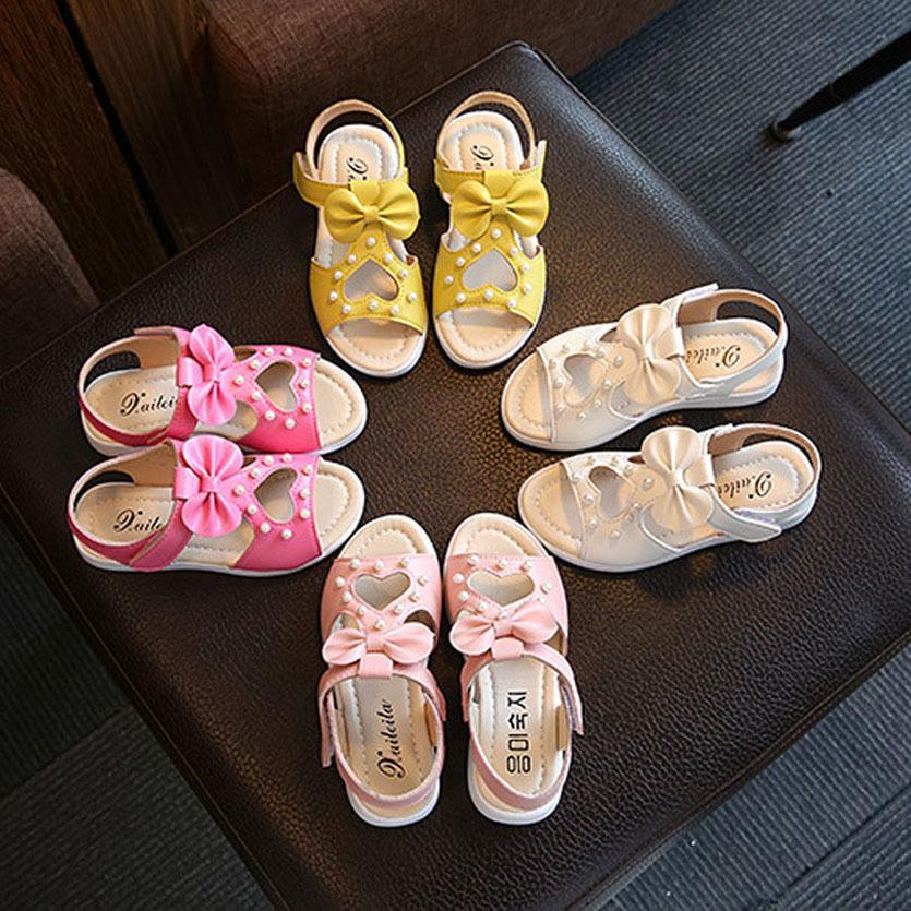 Scarpe per bambini delle ragazze di stile romano dei pattini delle ragazze di estate sandali della principessa Fiori Bambini Sandali Meisje Toddler Girl Shoes Y200623