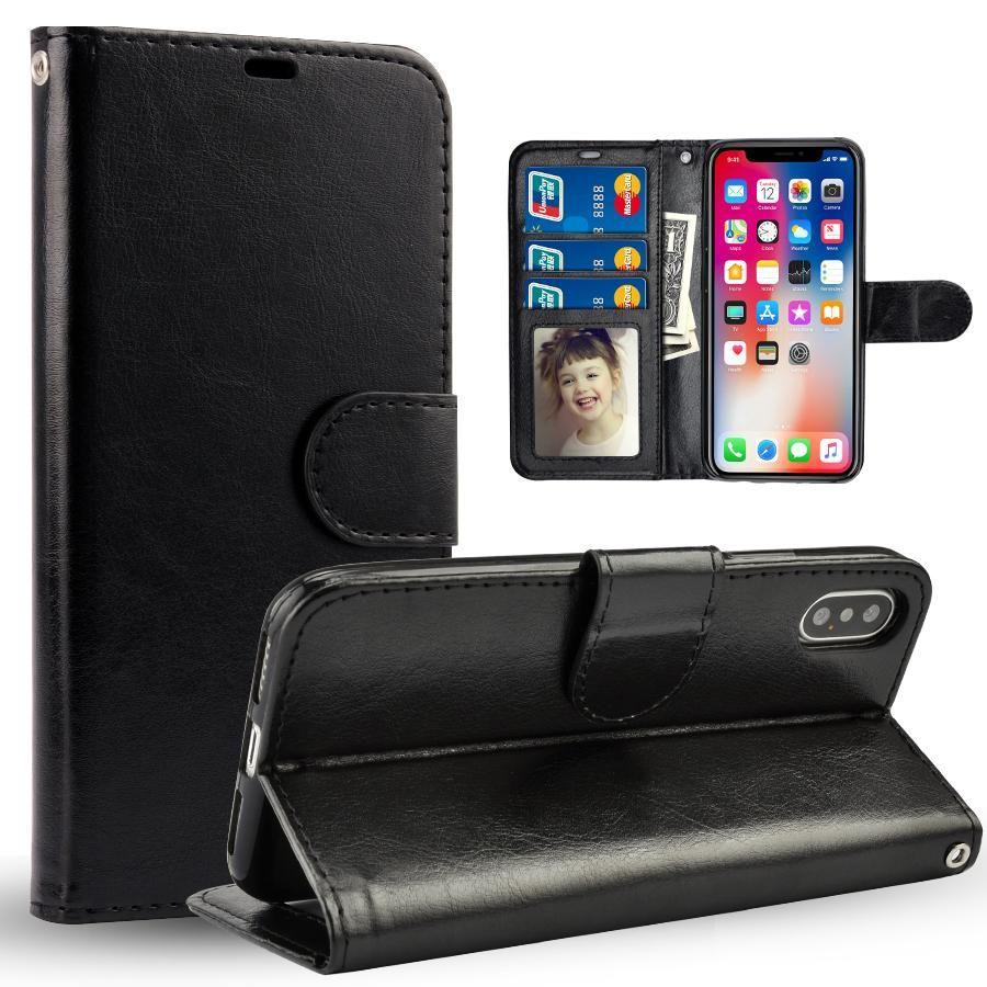 Para iPhone 11 Pro Max XS MAX XR lujo de cuero de la PU caja del teléfono a prueba de golpes suave transparente de la contraportada para Samsung S10 Nota 10 Plus