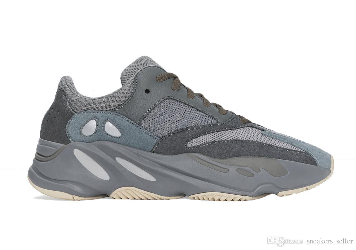 Carbon Blue Teal Blue Vanta Inertia Kanye West Running Shoes Men Women Sport Shoes With Box