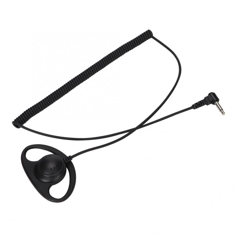 3.5MM Listen Only D Shape Earphone Headset Earpiece For Two Way Radio New